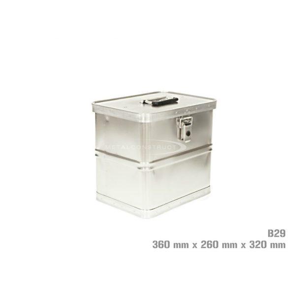 B-29 alumínium box, 360x260x320 mm
