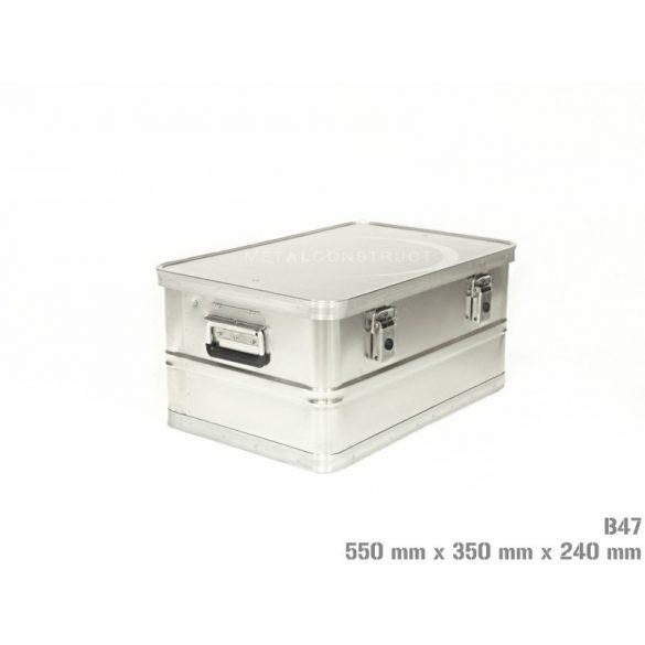 B-47 alumínium box, 550x350x240 mm