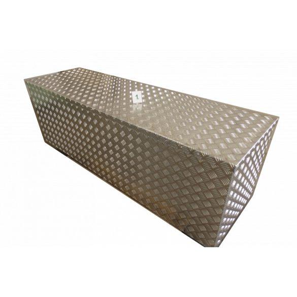 Cseppmintás doboz 1500x500x500 mm (375 l) gázrugó nélkül (hevederrel), fogantyúval